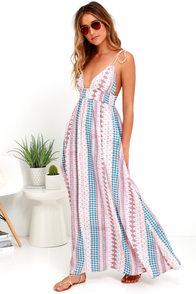Maxin' Relaxin' Multi Print Maxi Dress