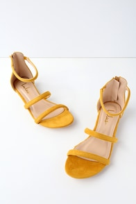 Quin Mustard Suede Flat Sandals