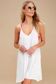 Carter White Swim Cover-Up at Lulus.com!