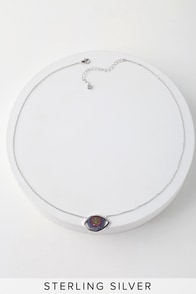 Caught My Eye Sterling Silver Rhinestone Evil Eye Necklace at Lulus.com!