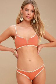 Sands Terra Cotta Reversible Bikini Bottom at Lulus.com!