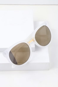 My Cougar White And Yellow Mirrored Sunglasses at Lulus.com!
