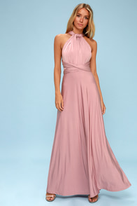 Always Stunning Convertible Lavender Maxi Dress