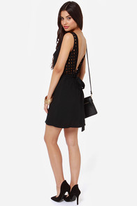 LULUS Exclusive Didn't Start the Fire Black Dress at Lulus.com!