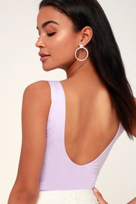 Check You Out Lavender Sleeveless Bodysuit