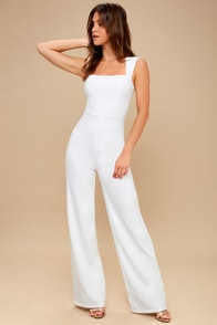 Enticing Endeavors White Jumpsuit at Lulus.com!