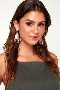 Kuata Rose Gold Earrings at Lulus.com!