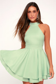Dress Rehearsal Mint Green Skater Dress