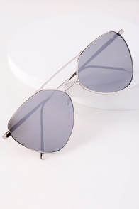 Holloway Silver and Grey Aviator Sunglasses