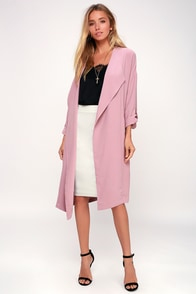 Ayres Mauve Trench Coat at Lulus.com!