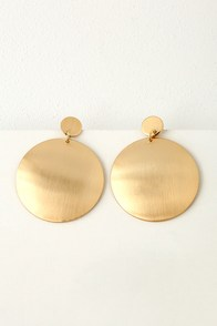 Warm Wishes Gold Circle Earrings at Lulus.com!