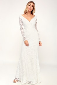 Lovely White Dress - Lace Dress - Maxi Dress