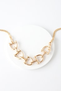 Murphie Gold Oversized Chain Necklace at Lulus.com!