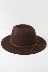 Wesley Chestnut Brown Wool Hat at Lulus.com!