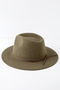 Wesley Olive Green Wool Hat at Lulus.com!