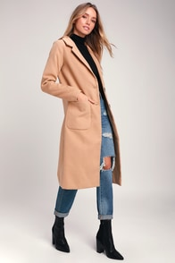 Style Squad Tan Coat at Lulus.com!