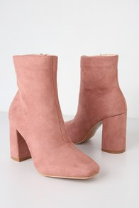 My Generation Blush Suede High Heel Mid-Calf Boots at Lulus.com!