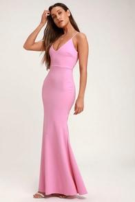 Infinite Glory Pink Maxi Dress
