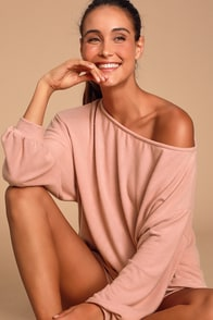 Cozy as Can Be Blush Pink Sweater Top