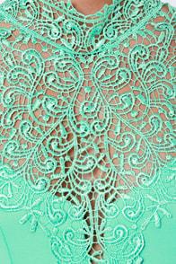 Renaissance Court Lace Mint Green Dress at Lulus.com!