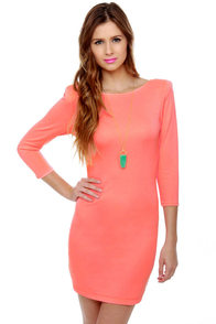 Rubber Ducky The Haps Neon Pink Dress at Lulus.com!