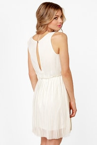 LULUS Exclusive Re-pleat After Me Ivory Dress at Lulus.com!