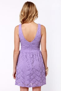 Birthday Party Lavender Lace Dress at Lulus.com!