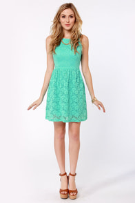 Birthday Party Mint Blue Lace Dress at Lulus.com!