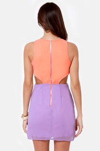 Syrup-dipity Lavender and Peach Dress at Lulus.com!