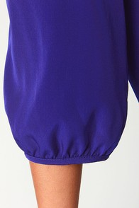 C'mon Get Happy One Shoulder Navy Blue Dress at Lulus.com!