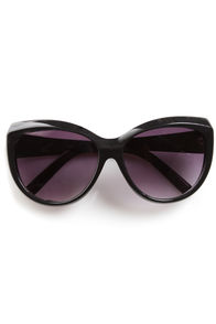 Sunday Funday Black Sunglasses