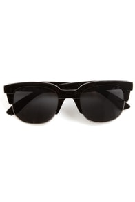 Book Smarts Black and Silver Sunglasses