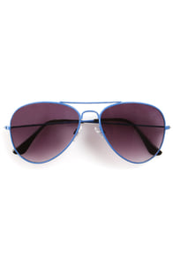 Lantern Blue Aviator Sunglasses at Lulus.com!