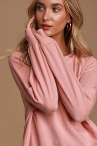 Ideal Comfort Pink Pullover Sweatshirt