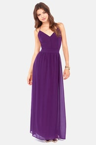 LULUS Exclusive Rooftop Garden Backless Purple Maxi Dress at Lulus.com!