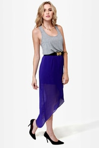 LULUS Exclusive Study Hall Grey and Blue Dress at Lulus.com!