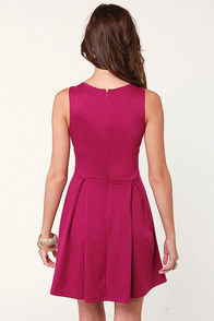 Lovestruck Cutout Magenta Dress at Lulus.com!