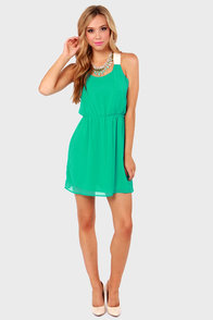 Honey Dipper Sea Green Dress at Lulus.com!