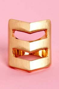 Bonus Points Chevron Ring at Lulus.com!