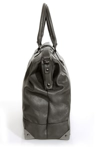 What's Up, Doc? Charcoal Grey Handbag at Lulus.com!