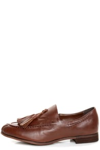 Oxy 4 Cognac Brown Slip-On Tassel Loafers