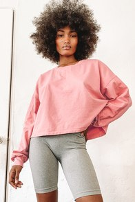 Early Mornings Rose Pink Pullover Sweatshirt