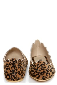 LuLu*s Scallopini Leopard Print Scalloped & Pointed Flats at Lulus.com!