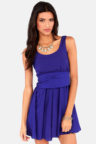 Tie Me a River Royal Blue Dress at Lulus.com!