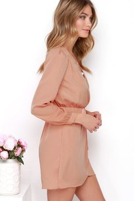 That's a Wrap Peach Long Sleeve Dress at Lulus.com!