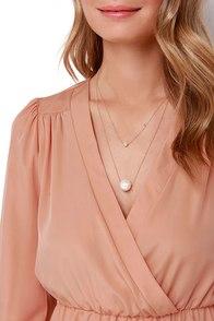 That's a Wrap Peach Long Sleeve Dress at Lulus.com!