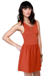 Skaters Gon' Skate Orange Dress at Lulus.com!