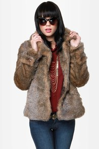 Have You Furred? Brown Faux Fur Jacket at Lulus.com!