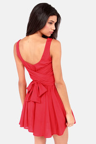 Tie Me a River Red Dress at Lulus.com!