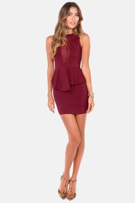 Look at This Mesh Burgundy Dress at Lulus.com!
